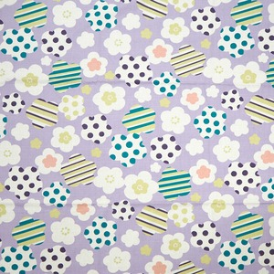 coco−cloth小風呂敷 ポップ梅 紫