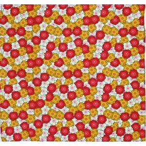 ほのぼの屋風呂敷(小) 花柄 赤