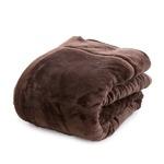 mofua あったかさをためこむ4層毛布 シングル ブラウン