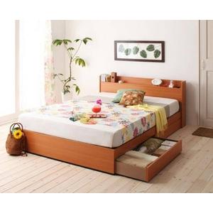 コンセント付き収納ベッド 【フレームのみ】シングル ナチュラル