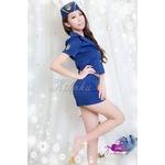 コスプレ 婦警 帽子付青の可愛い制服 婦人警官