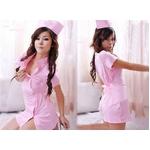 コスプレ ピンクの看護婦のナース制服 コスチューム