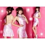 コスプレ ピンクのマイクロミニチャイナドレス 背中セクシー