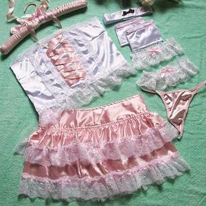 コスプレ ピンク色のメイド服 ゴシックロリータ ゴスロリ