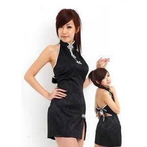 コスプレ 黒のセクシーチャイナドレス