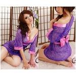 コスプレ 全レース紫色の豪華着物 浴衣 和物