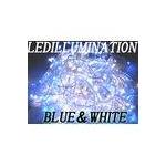 ★正規品★LEDイルミネーション100球 ブルー&ホワイト 50本連結可能