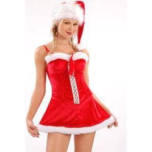 【サンタクロース コスプレ 衣装】コスプレ フード付クリスマスサンタコスプレ