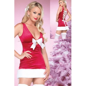 【サンタクロース コスプレ 衣装】コスプレ 背中編み上げクリスマスサンタさんコスプレ