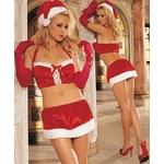【サンタクロース コスプレ 衣装】コスプレ 豪華セット♪グローブ付クリスマスサンタさんコスプレ
