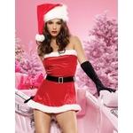 【サンタクロース コスプレ 衣装】コスプレ ベルト&グローブ付クリスマスサンタさん