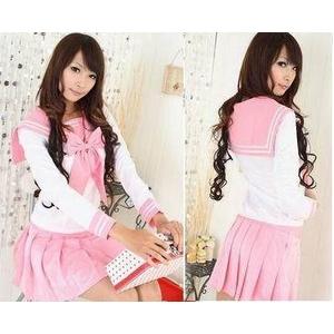 コスプレ 学生服*大きいリボンの学生服/長袖
