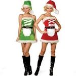 【サンタクロース コスプレ 衣装】コスプレ ベルト付クリスマスサンタさんコスプレ→両面着用可
