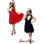 【サンタクロース コスプレ 衣装】コスプレ 2010年新色追加☆クリスマスサンタ・ショートドレス S101☆ レッド