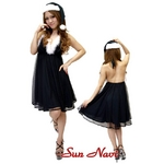 【サンタクロース コスプレ 衣装】コスプレ 2010年新色追加☆クリスマスサンタ・ショートドレス S101☆ ブラック