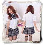 コスプレ 蝶リボンのスクール 学生服(黒)