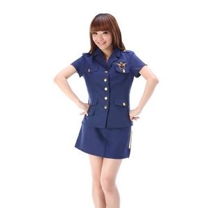 コスプレ サイド金ラインスカートの 婦人警官・ポリス