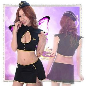 コスプレ キャップ付ミニスカートのセクシー系の婦人警官さん 黒