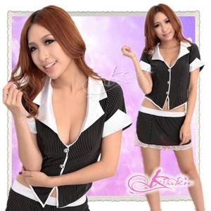 セクシースカートの女子教師コスプレ・OL制服