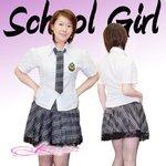 【グレー色】チェックのスクールコスプレ・学生服/6102