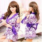 【紫】  着物 コスプレ 浴衣 【4039】