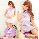 2color 紫 チャイナドレス コスプレ【1072-2】