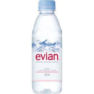 【まとめ買い】ミネラルウォーター エビアン(evian)ペットボトル330ml×48本セット