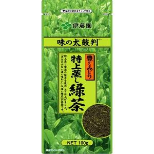 【ケース販売】伊藤園 味の太鼓判 特上蒸し緑茶500【100g×20本セット】 まとめ買い