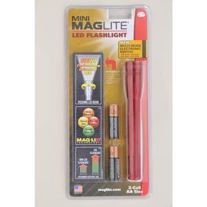 マグライト ミニマグライトLED レッド マグライト MAGLITE 2セル AA[ SP2203HY ]