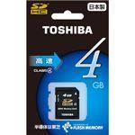 東芝 SDHCメモリーカード 4GB CLASS4 [ SD-E004G4 ]