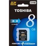 東芝 SDHCメモリーカード 8GB CLASS4 [ SD-E008G4 ]