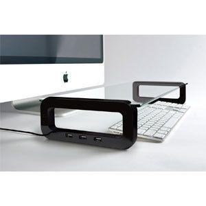 BLACK USBハブ付きモニターボード (ブラック) [ U-BOARD(BLACK) ]