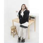 【大きいサイズ レディース】ファッション人気モコモコパーカー★ブラック