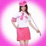 セクシー☆ピンクミニスカポリスコスチューム5点セット コスプレ