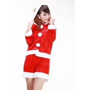 クリスマス☆サンタクロースコスチューム上下セット コスプレ