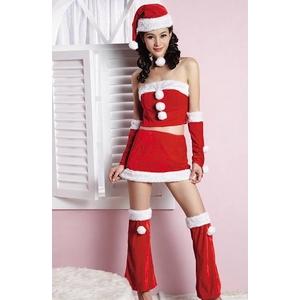 クリスマス☆可愛い白玉のサンタコスチュームフルセット コスプレ