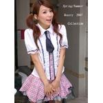 可愛いスクール系高校女子制服♪Tパック付4点☆コスプレ skr10