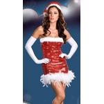 コスプレ 超可愛い裾添え&フード付クリスマスサンタさんコスプレ 3618