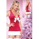 コスプレ 背中編み上げクリスマスサンタさんコスプレ 3604