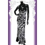 キャバ ドレス ロングドレス ゴージャスデザインマーブル セットアップ 白