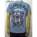 ed hardy(エドハーディー) メンズTシャツ Love Kills Slowly GAMBLE ライトブルー M