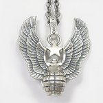 Christian Audigier クリスチャンオードジェー ネックレス ペンダント Grenade Pendant 【P101】【手榴弾】【羽】