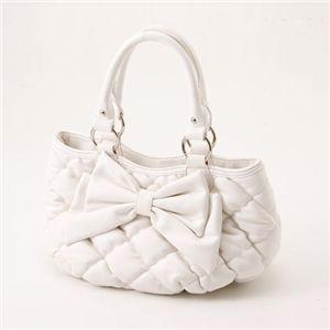 Rubin Rosa(ルビンローザ)モコモコキルトバッグ ROK72 White