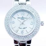 【ギフトラッピング費用込】 ダイヤモンド100石合計0.4カラット ジュエリーウォッチ ホワイト