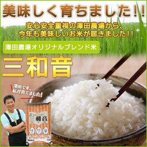 【平成22年産新米】 澤田農場のオリジナルブレンド米(三和音)玄米 15kg(5kg×3袋)