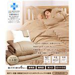 帝人共同開発 マイティトップ(R)II使用 清潔・快適寝具 ダブル 6点セット アイボリー