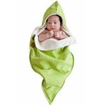 Lala's Pequenousおくるみ 【GREEN SWIRLS(100% Organic)】  包装なし