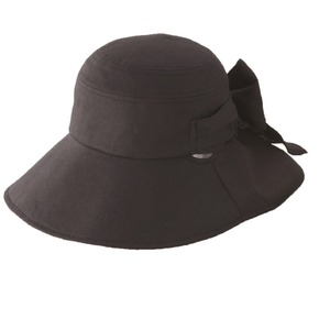 クールインハット(リボン付き) ブラック