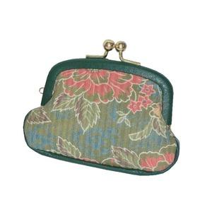 新京牡丹 小ガマ口財布(グリーン)