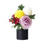 リモコン付き 仏花 パープル